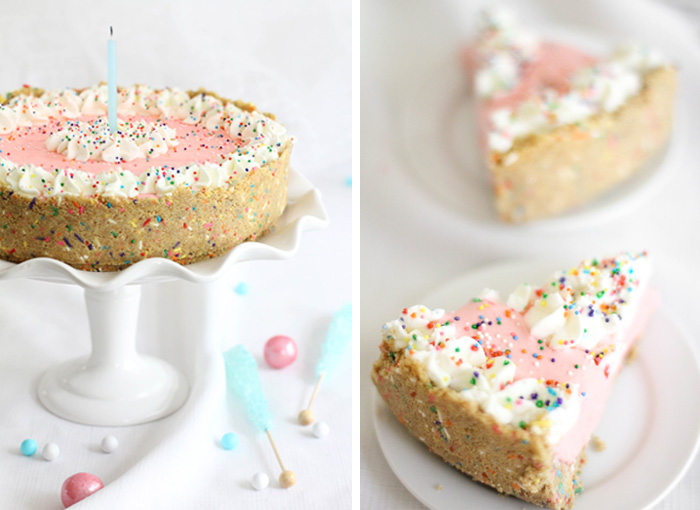 Sprinkle Bakes: No Bake Strawberry Milk Cheesecake