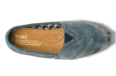 TOMS STORE TOKYO/商品詳細 Teal Stone-Washed Cord Women's Classics