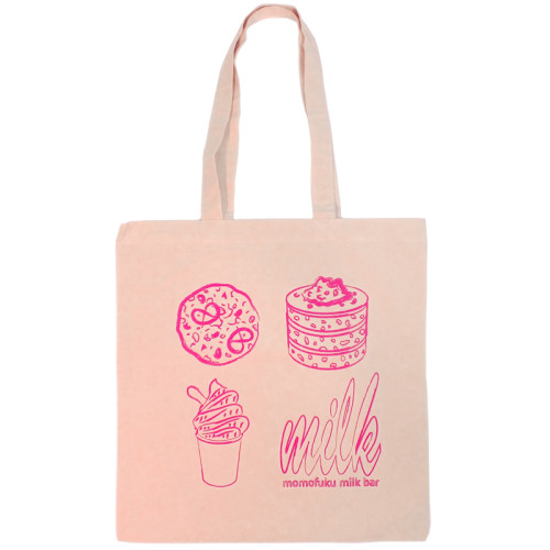 Pink Milk Bar Tote Bag | Milk Bar's Shipping Site