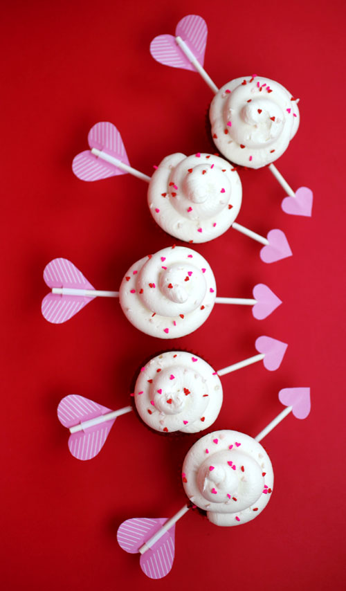 Cupid's Arrow Cupcakes « bakerella.com