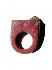 Terracotta & Pyrite Hewn Ring | NOT JUST A LABEL
