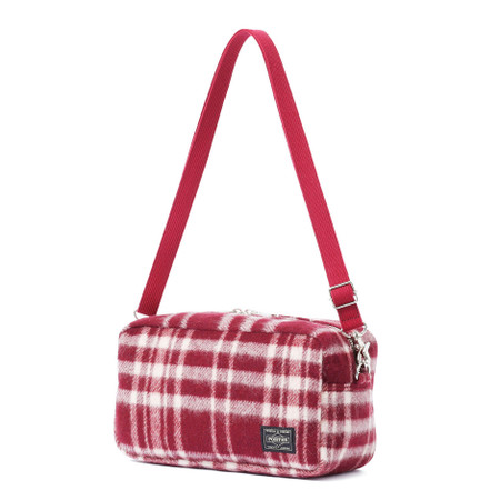 """""""LESSON"""" 2WAY POUCH BURGUNDY"""