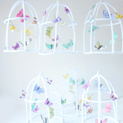 The Butter Flying Whimsical Fairy Poetic wire butterflies cage - スプートニク|カラフルな北欧雑貨・欧風雑貨