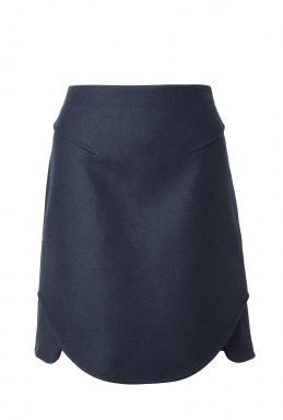 Carven | Curved Hem Wool Skirt by Carven