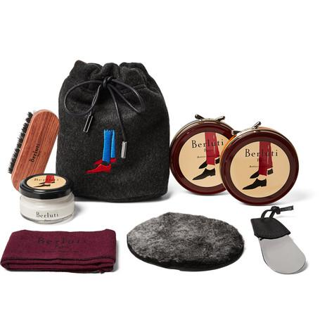 Berluti - Shoe Care Kit with Seven-Pack Knitted Socks