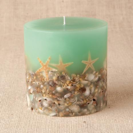 Botanical Candles for Sale: Candles with fruit, shells, spices and other natural elements: Rosy Rings Online Store