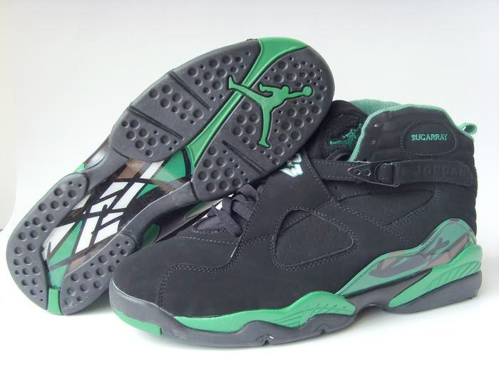 reputable site ad6d4 0ca63 NIKE : Air Jordan 8 Retro PE-Sugar Ray Allen Black-Stealth ...