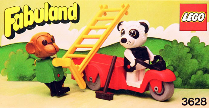 LEGO 3628-1: Perry Panda and Chester Chimp | Brickset: LEGO set guide and database