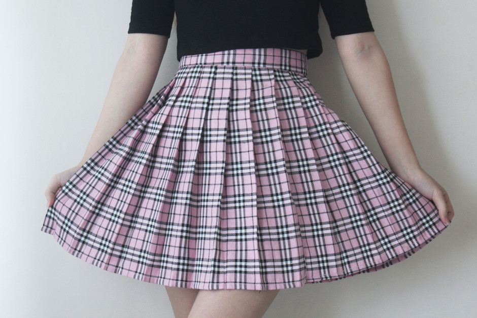 Pink Tartan Pleated Skirt – Summer Tales