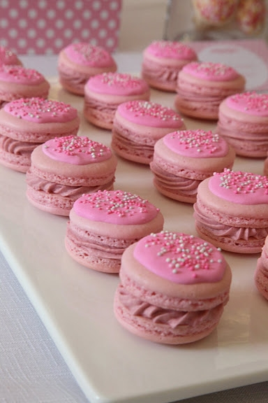 Shabby Chic Romantic Royal Birthday Party ideas / paper doll birthday party - perfect macarons