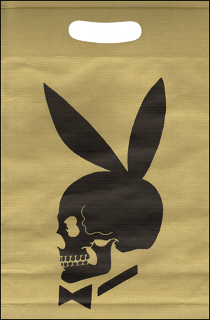 Specific Object: Skull Bunny Shopping Bag