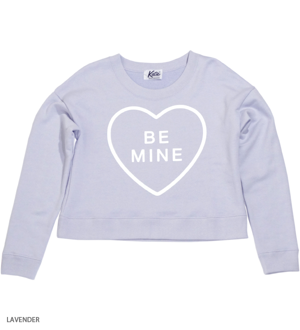 BE MINE crew neck - Katie Official Web Store