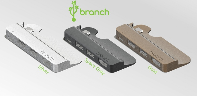 Branch – Form Fitted USB-C Hub for new Macbook by Branch USB — Kickstarter