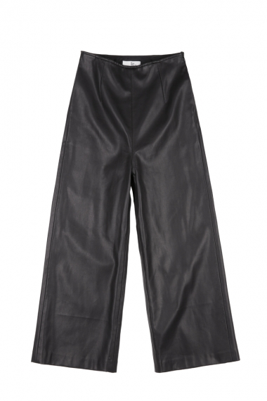 Leather look ankle length trousers - FrontRowShop