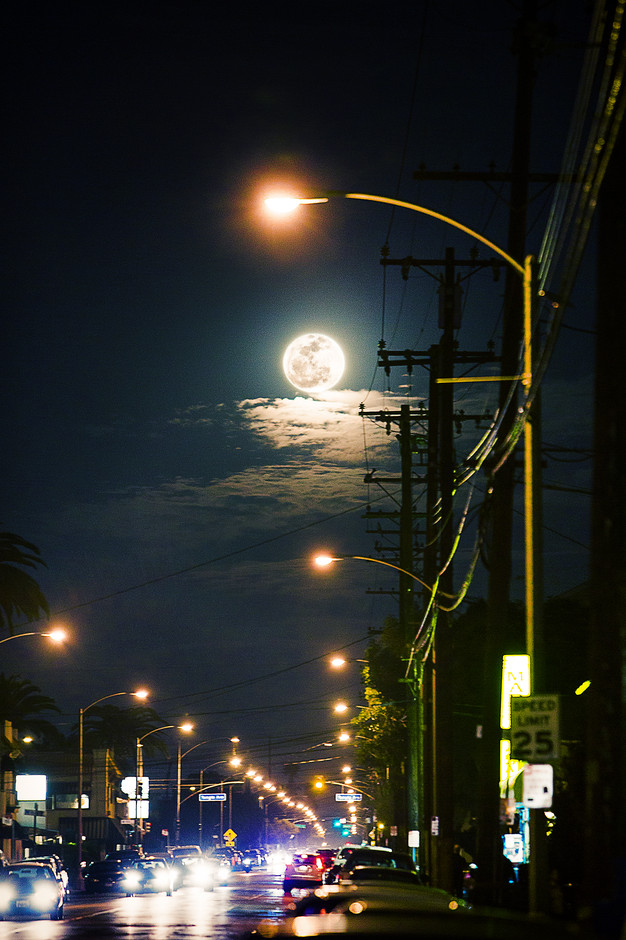 All sizes   Moon over street   Flickr - Photo Sharing!