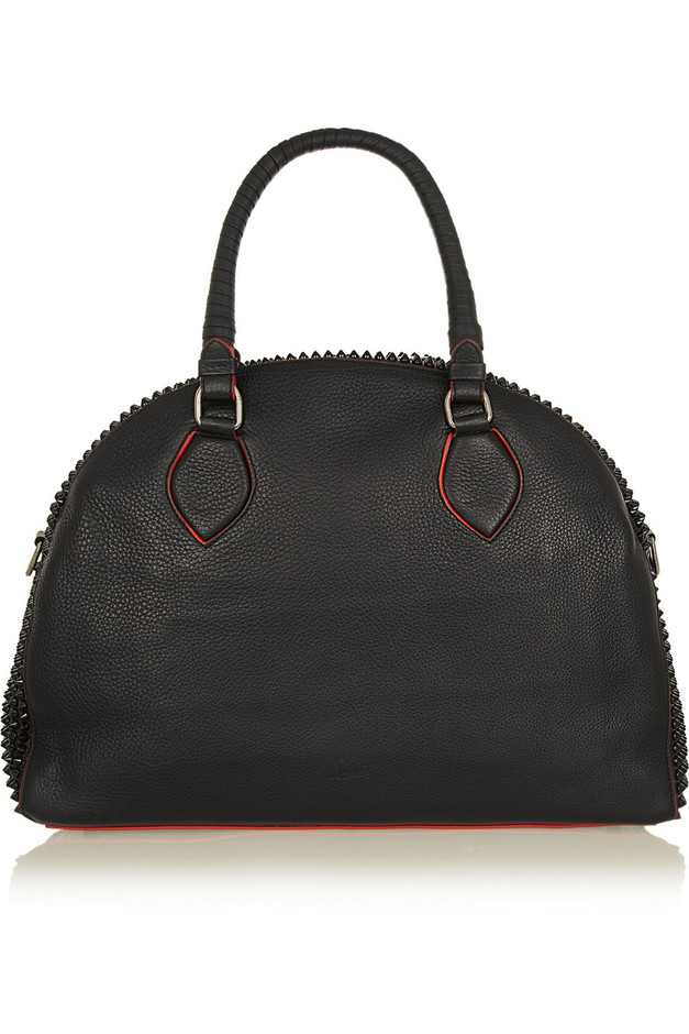 Christian Louboutin | Panettone large spiked textured-leather tote | NET-A-PORTER.COM
