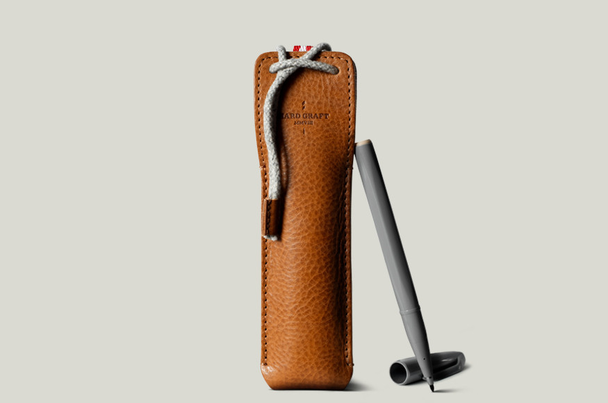 Draw Pen Case - Leather Case for Two Pens | hard graft