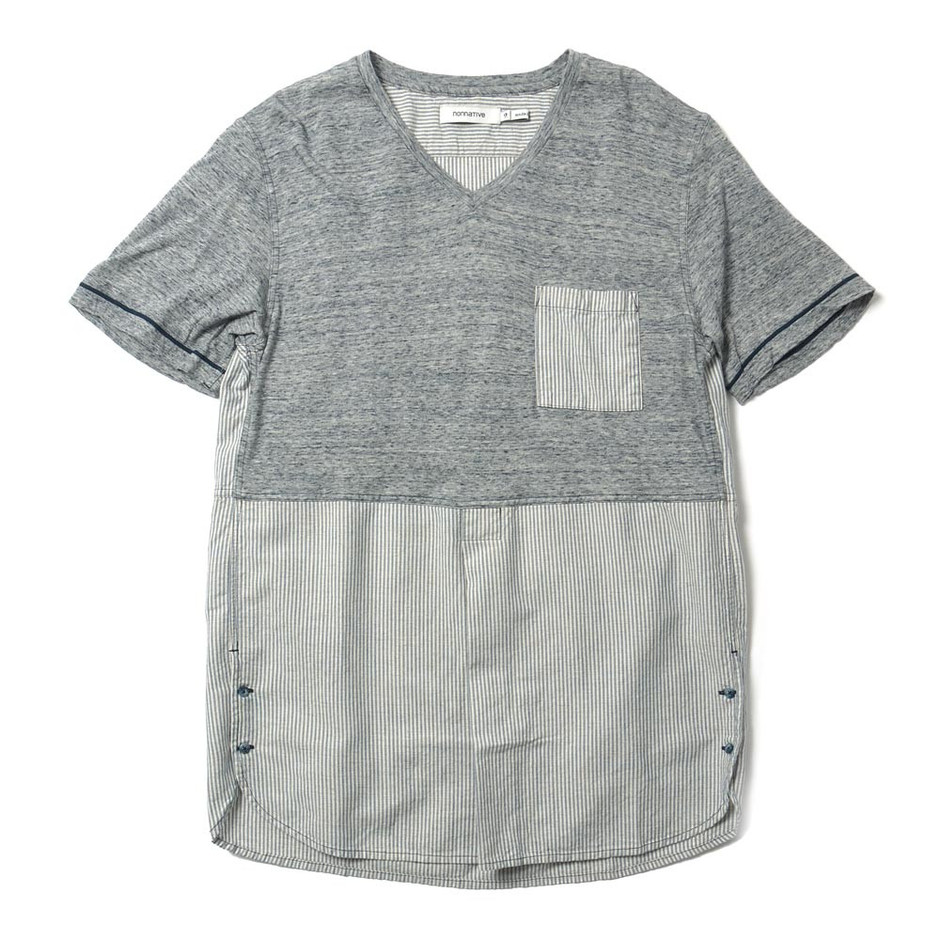 HAVEN — Drifter Pullover Shirt SS - C/R Hickory Stripe