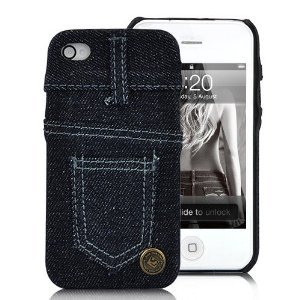 Amazon.com: Skinny Jeans New York Style Case Cover For iPhone 4 and 4S DARK BLUE: Cell Phones & Accessories
