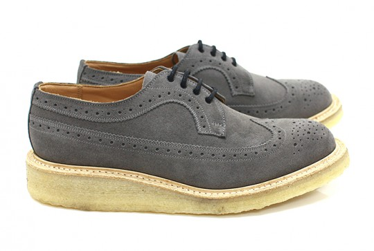 Trickers Grey Suede Brogues - Eight Hundred Ships | Selectism.com