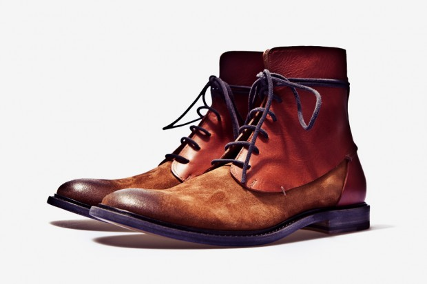 Maison Martin Margiela 2011 Fall/Winter Two-Toned Leather Boot | Hypebeast