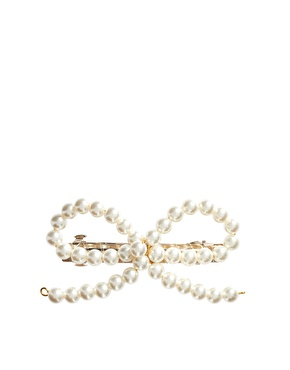 ASOS | ASOS Pearl Bow Hair Barrette at ASOS