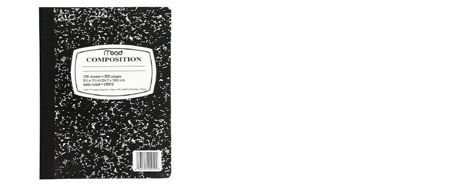 Mead® Square Deal® Black Marble Composition Book (09910) | MEAD