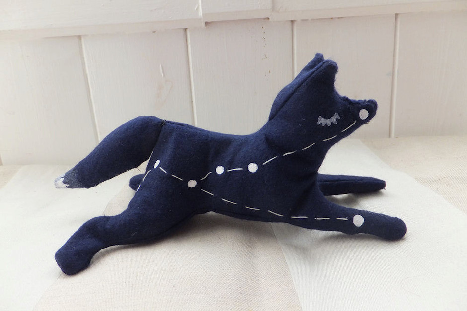 stuffed animal toy constellation Vulpecula by EclecticCabinet
