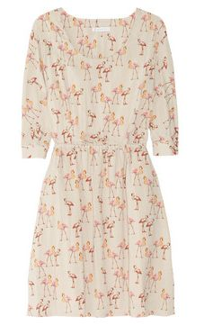 【LASO ラソ】◆NEW◆2012/秋冬◆PAUL & JOE SISTER 円高還元◆Saudade flamingo-print voile dress ポール・アンド・ジョー