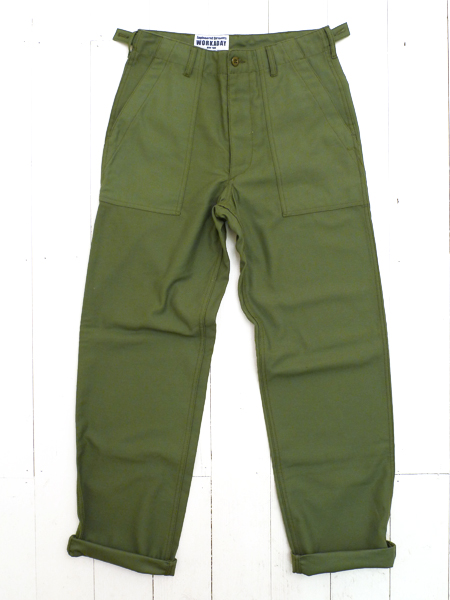 Olive Reversed Sateen Fatigue Pant by Engineered Garments Workaday available to buy at The Bureau Belfast