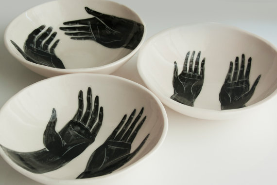 Grasp Porcelain Bowls set of 3 by brycewymer on Etsy