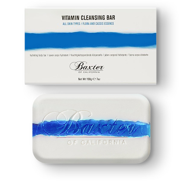 Men's Vitamin Cleansing Soap Bar: Italian Lime & Pomegranate - Baxter