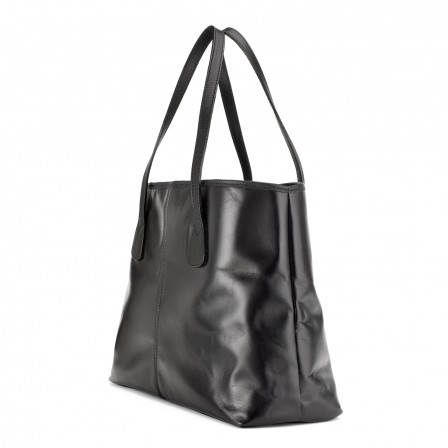 Alice Leather Tote Bag, Small, in black from Tusting