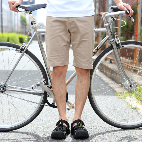 BLUE LUG / *BLUE LUG* stretch bike shorts (beige)