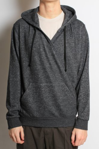 DRIES VAN NOTEN 'Heybourne' Shawl Cross Hooded Sweat in Charcoal - JERSEY/SWEAT from Autograph UK
