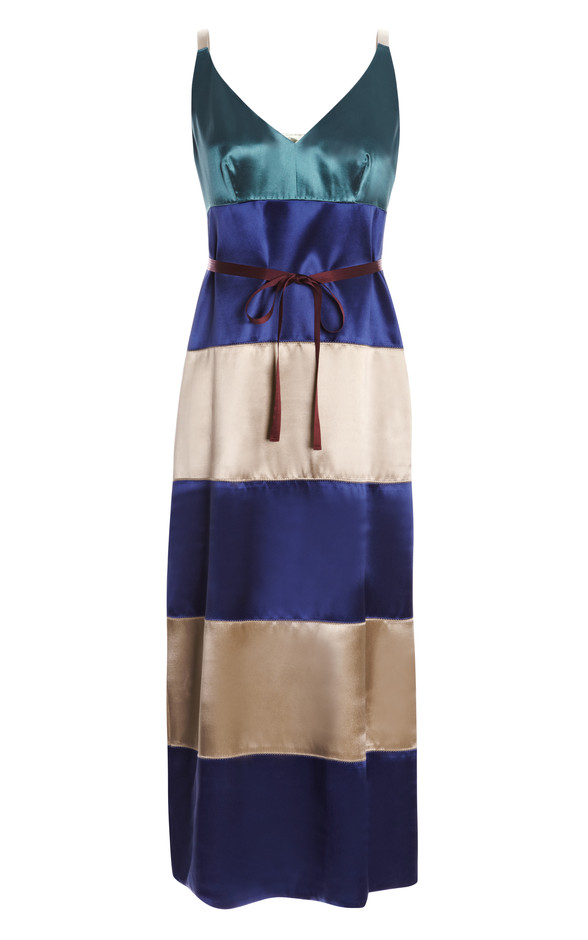 Belted Color-Block Satin Tank Dress by Marc Jacobs Now Available on Moda Operandi