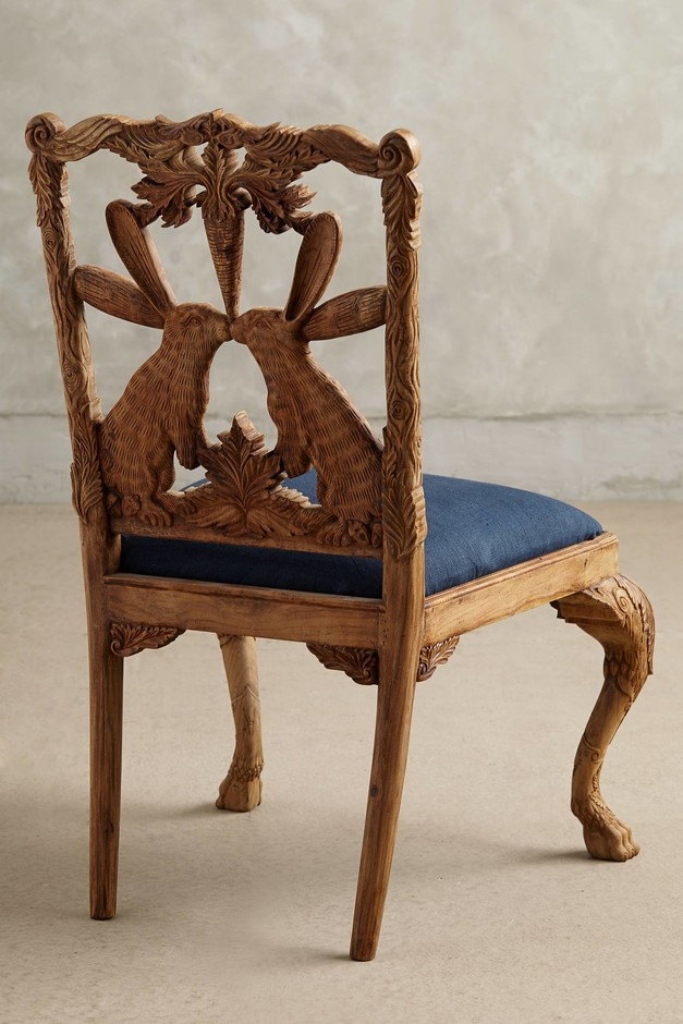 Handcarved Menagerie Dining Chair - anthropologie.com