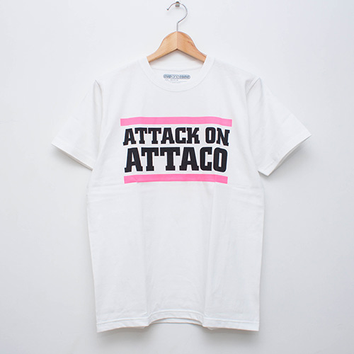 Attack on Attaco Tee - White - cup and cone WEB STORE