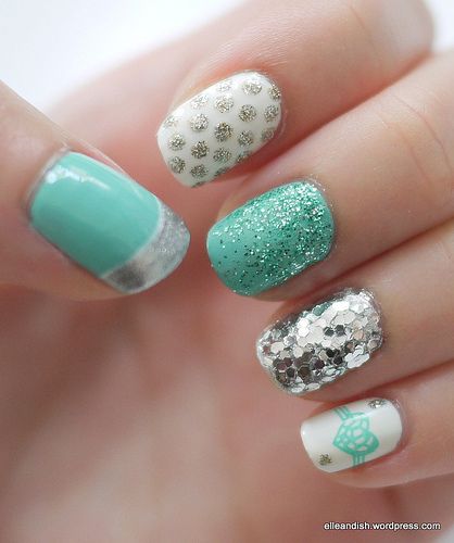 NOTD: Tiffany Blue, Silver and White « elle & ish