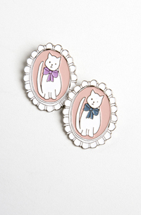 Cat Cameo Brooch by Twenty-Seven Names at Maximillia