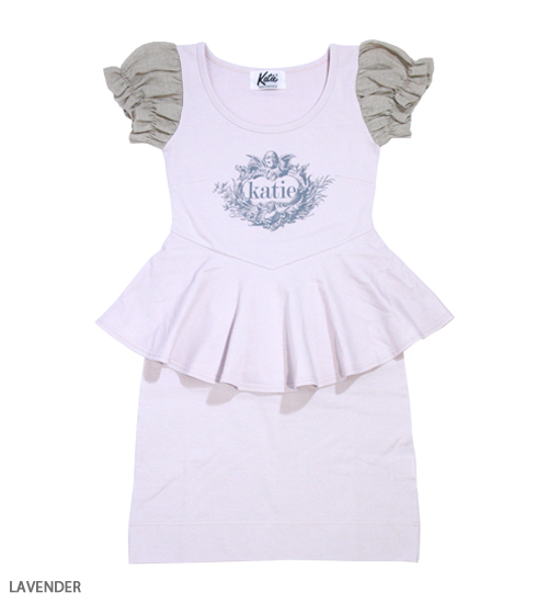 DRESS - ANGEL LOGO puff one-piece - Katie Official Web Store