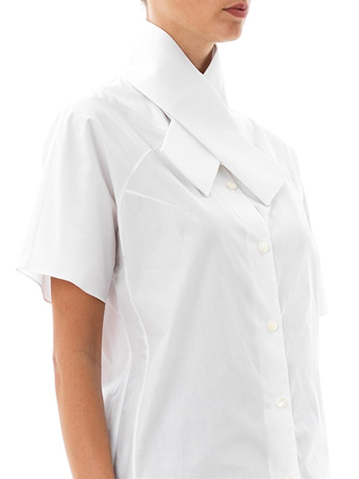 Cross-collar cotton shirt | Carven | MATCHESFASHION.COM