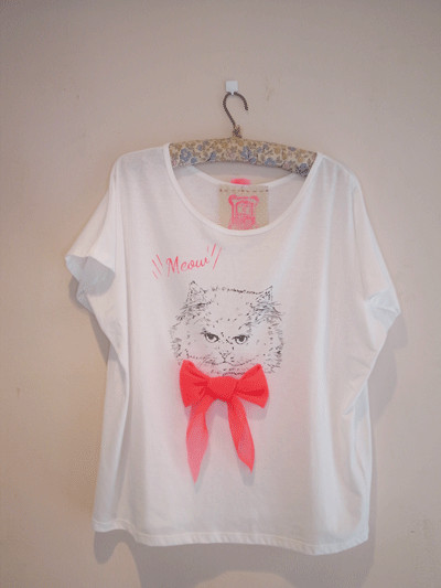 CLOTHES > A l'envers Q - 【受注生産】A l'envers Q cat T-shirts - com-come-to-tote