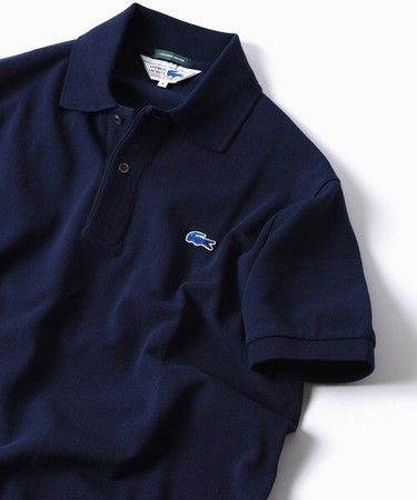 LACOSTE × SHIPS  70's ドロップテイル ポロシャツ (navy)