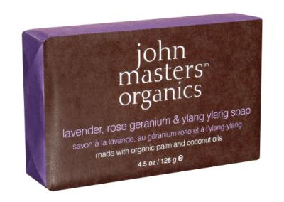 John Masters Organics Lavender, Rose, Geranium & Ylang Ylang Soap - Natural and Organic Luxury Products - Plaisirs Boutique Online - Pure Organic & Natural Skin Care, Bath and Body Products, Luxur