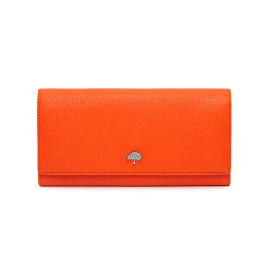 Tree Continental Wallet in Mandarin Small Classic Grain | Continental Wallets | Mulberry