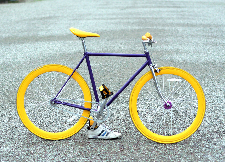 Fixed Gear bicycle Hand Made by OfficineGrandi61 on Etsy