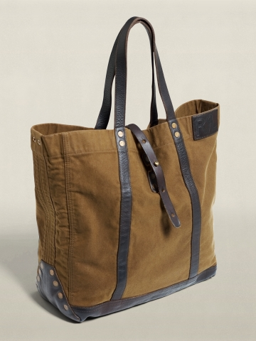 Vintage Canvas & Leather Tote - Bags & Business   Men - RalphLauren.com