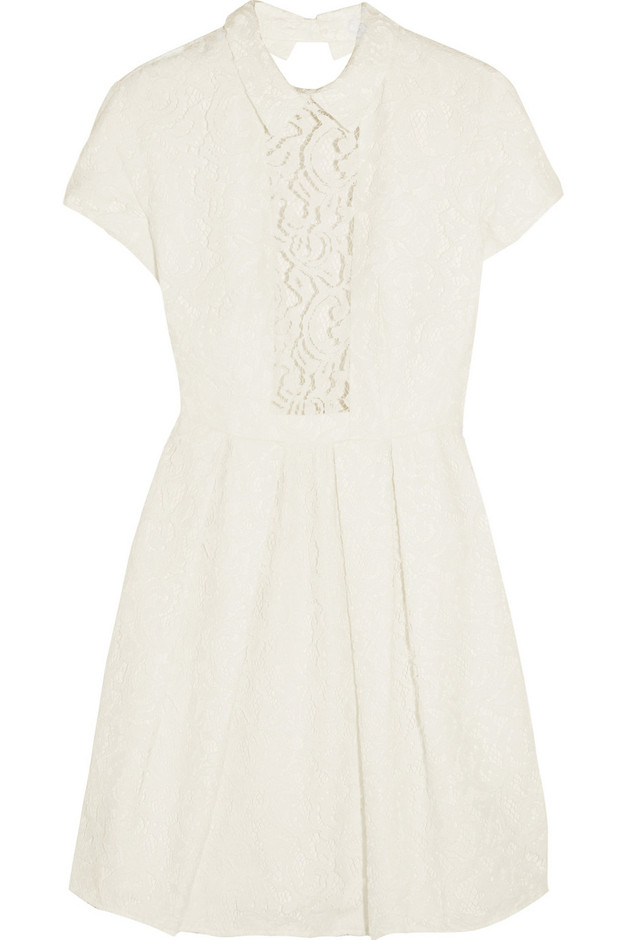 Carven | Cutout guipure lace mini dress | NET-A-PORTER.COM