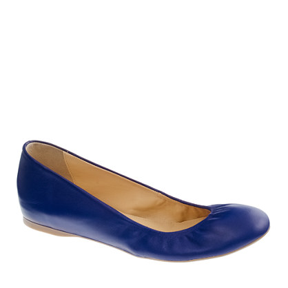 Cece leather ballet flats (tuscan grape)